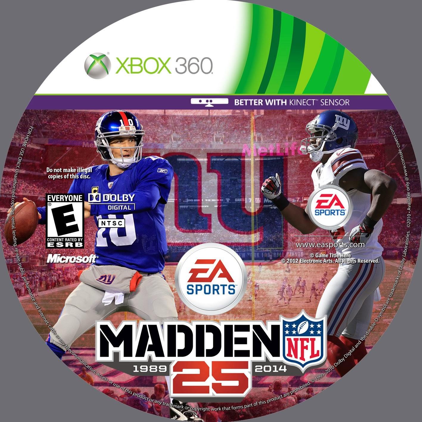 Label Madden NFL 25 Xbox 360 v2