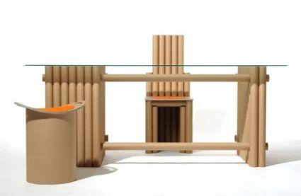 Muebles con papel y cart n reciclado for Como hacer muebles de oficina