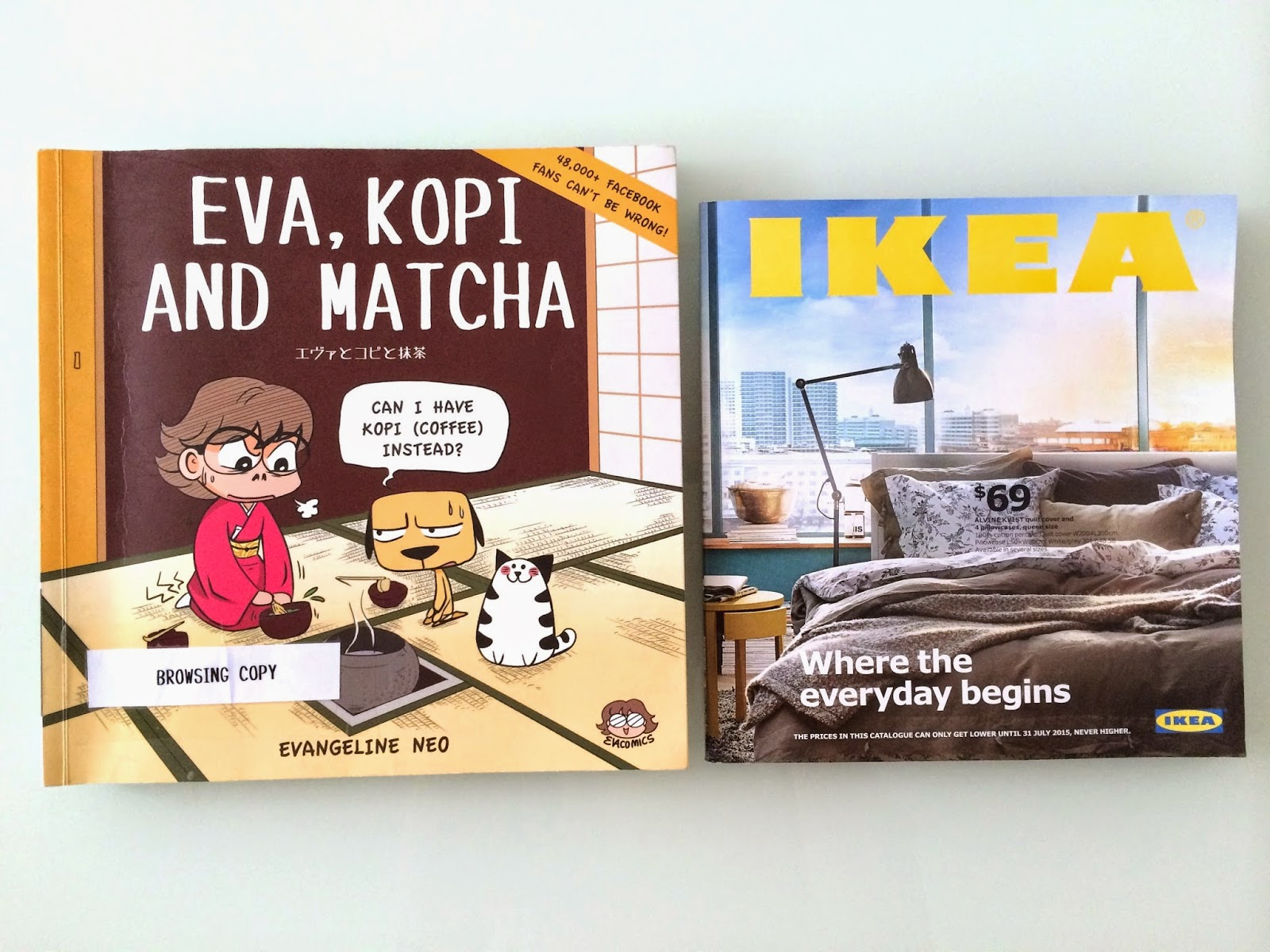 Evacomics comicbookbook™ VS Ikea bookbook