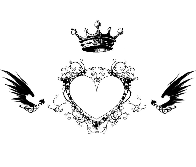 Heart Tattoo Designs With Wings King Heart Winged Tattoo is a