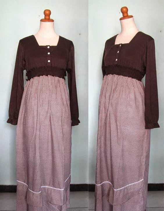 Model Baju Hamil Batik Gamis Kombinasi