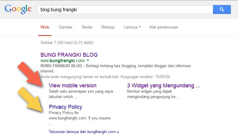 Cara Memblokir/Menghapus Sitelink yang Tidak Diinginkan Pada Google Search