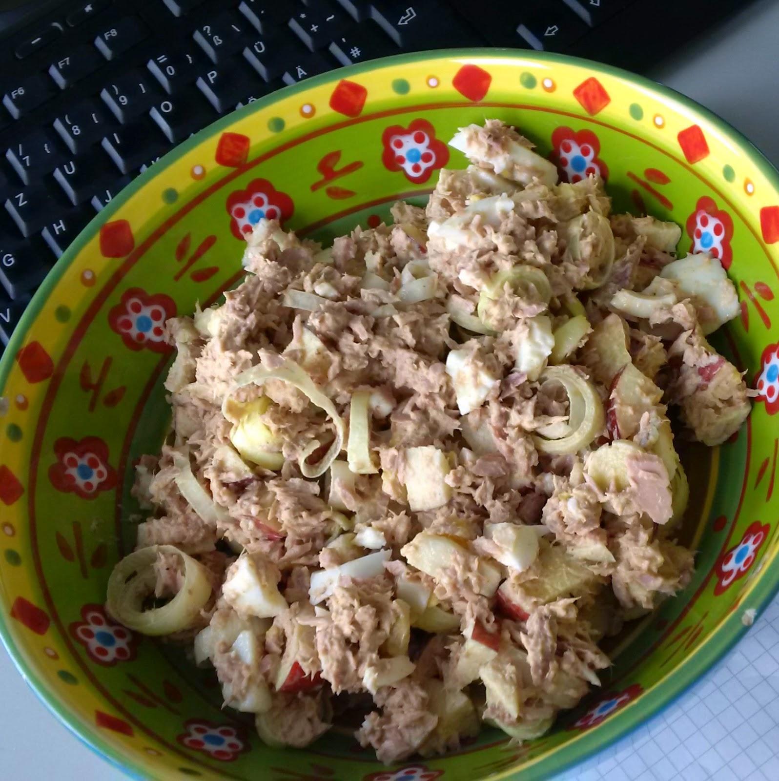 Salat thunfisch apfel