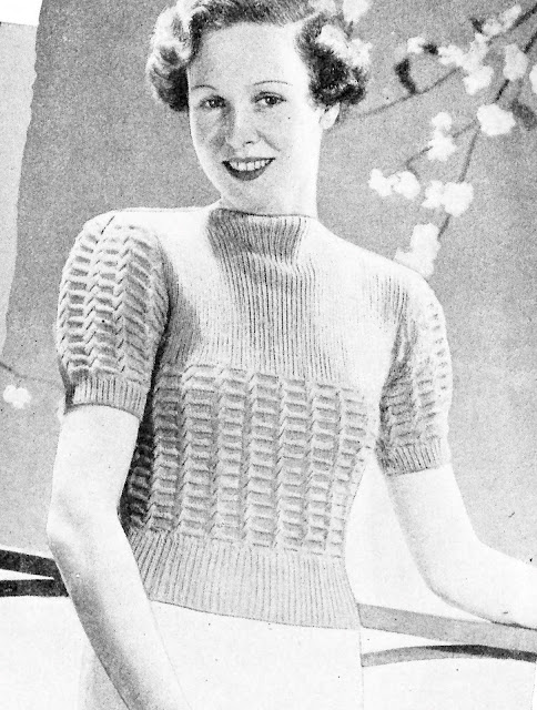 The Vintage Pattern Files - Free 1930's Knitting Pattern - Easy to Knit and Charming