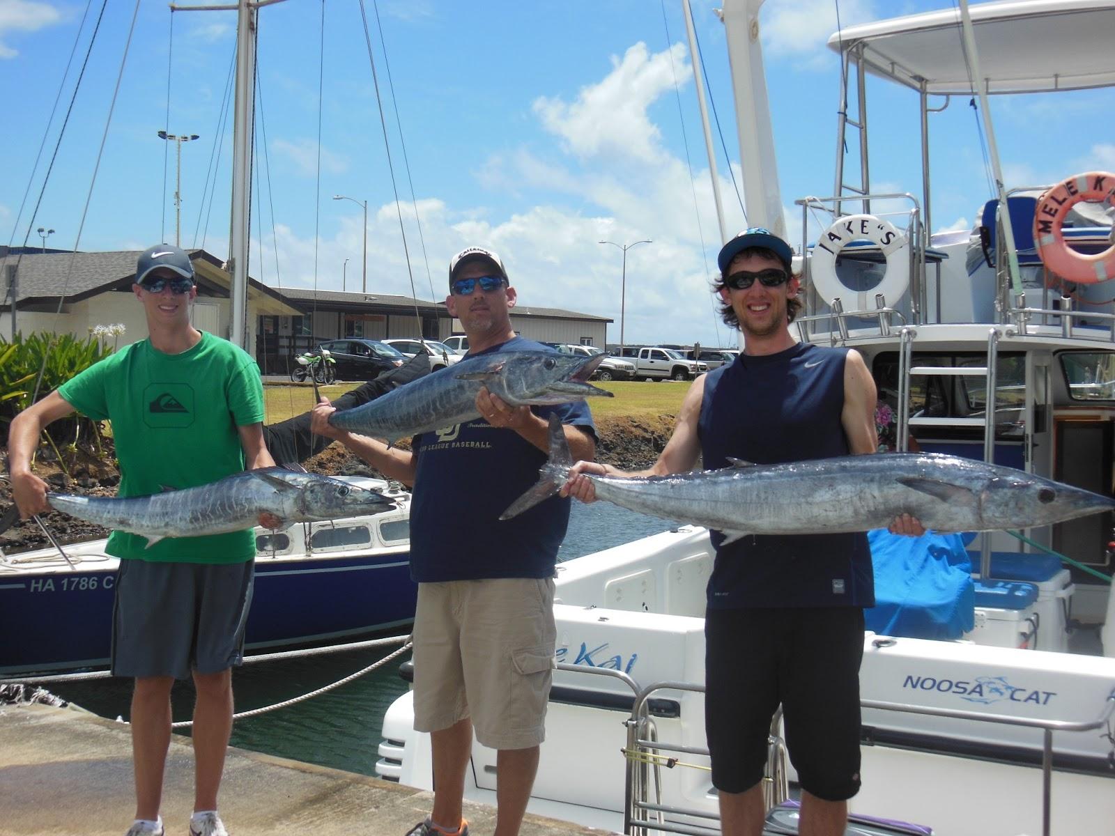 C lure fishing chaters kauai hawaii wahoo fishing in hawaii for Kauai fishing report
