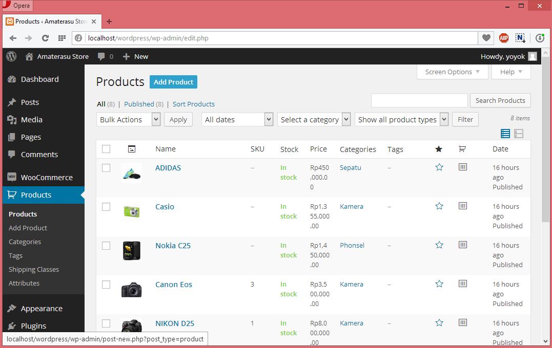 Panduan Menggunakan Plugin WooCommerce Untuk Membuat Toko Online di Wordpress 4