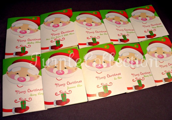 Christmas Greeting Cards, santa claus, present