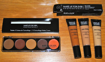 make up for ever corrector palette and full coverage concealer