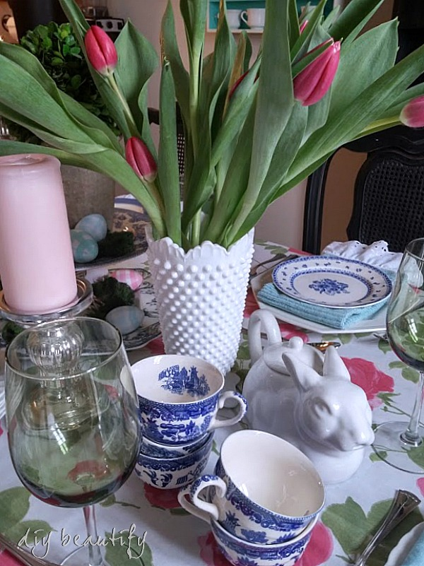 Easter table setting DIY beautify