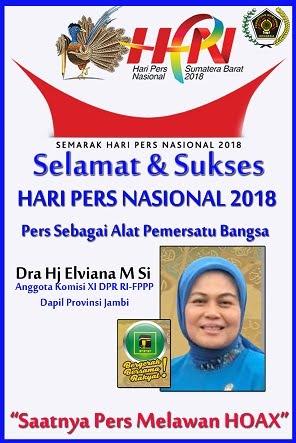 Selamat dan Sukses HPN 2018 Sumbarntas