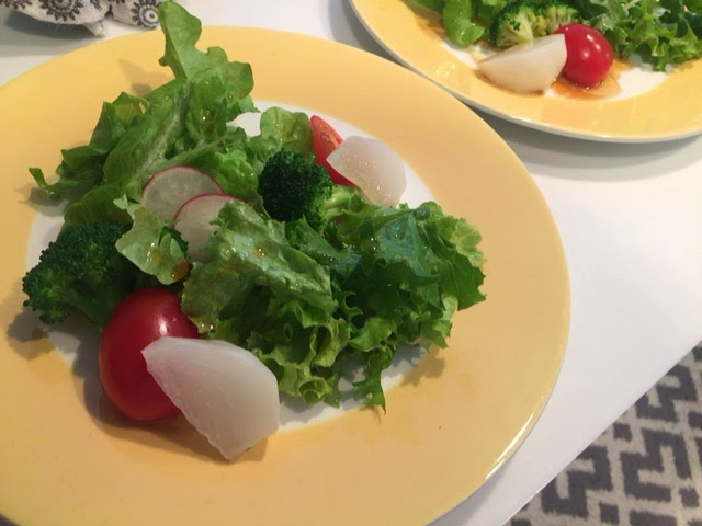 江東区のご自宅に出張シェフ:彩り野菜の冷温サラダ