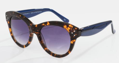 Rebajas SS 2015 complementos gafas de sol carey y patilla azul