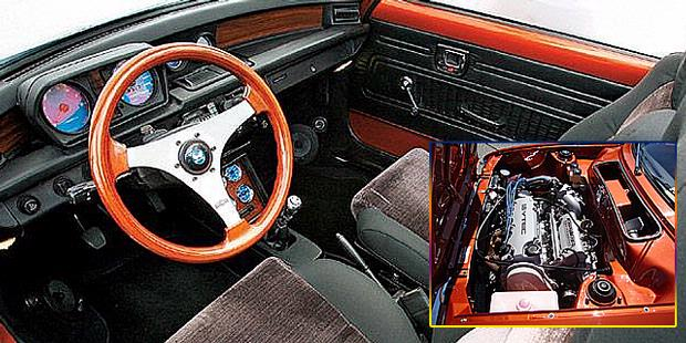 Honda Civic 1976 Modification Picture interior and engine view