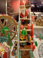 Gingerbread Version of Santa on a Rollercoaster with Children