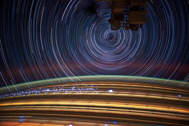 Fotos longa exposição - NASA - Estação Espacial Internacional