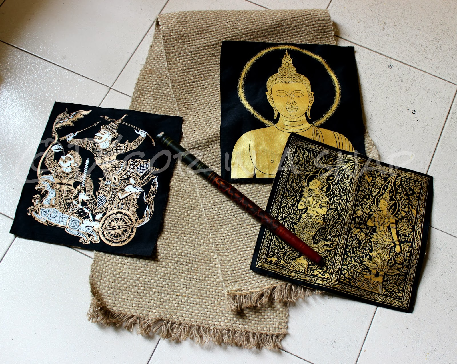 Decor in a snap make a wall hanging easily with different for Images of wall hanging with waste material