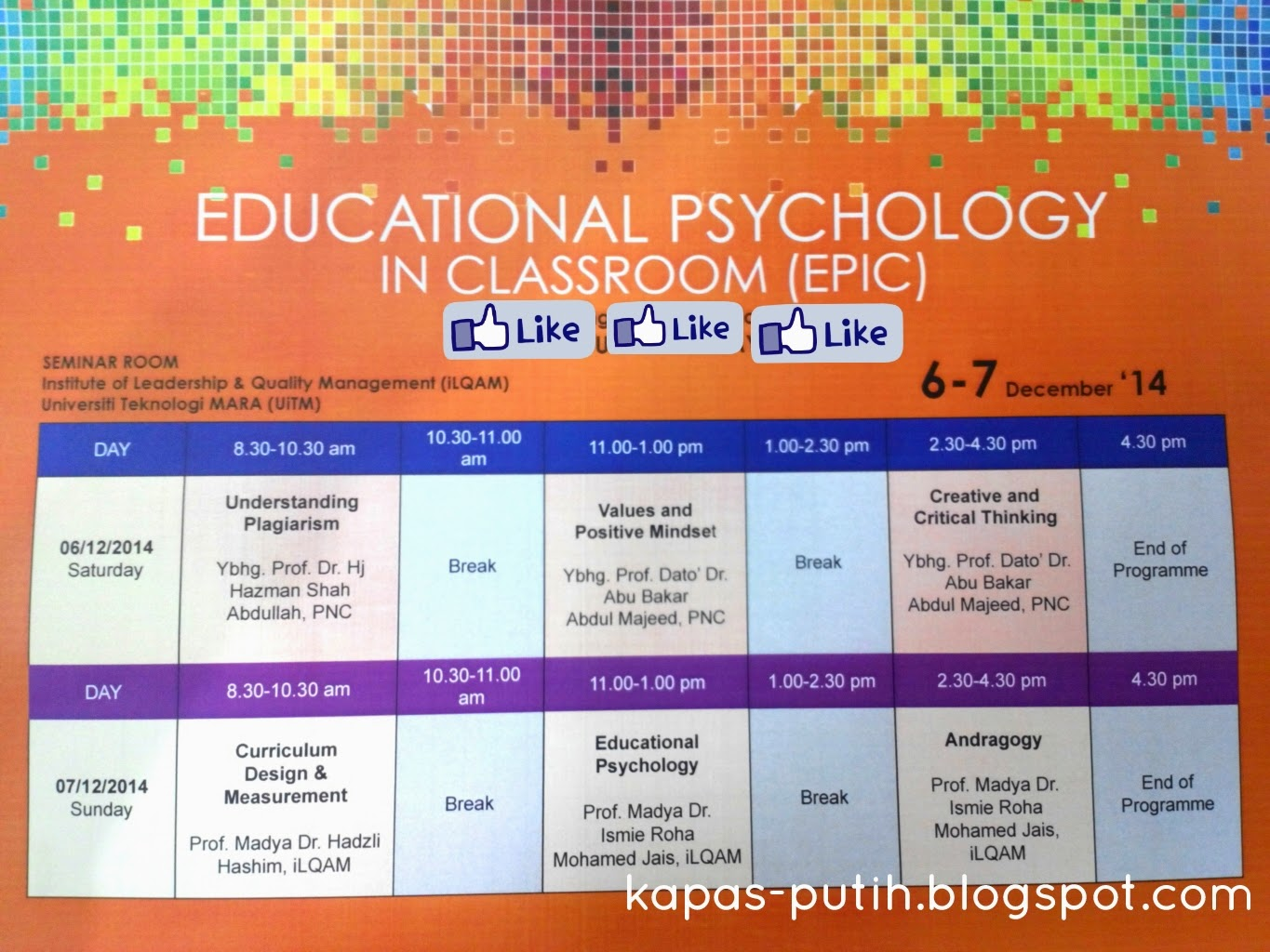 Educational Psychology / Learning & Teaching @ ilQam UiTM