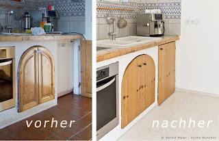 Klassische Holzfronten für die Landhausküche - aber glatt und modern