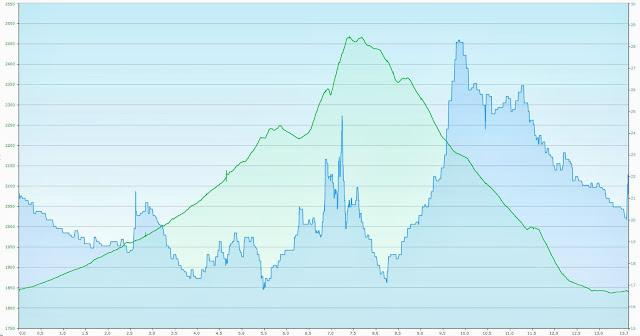 Perfil de elevación Las Trojes - Arroyo Zarco - Sierra del Ixtle