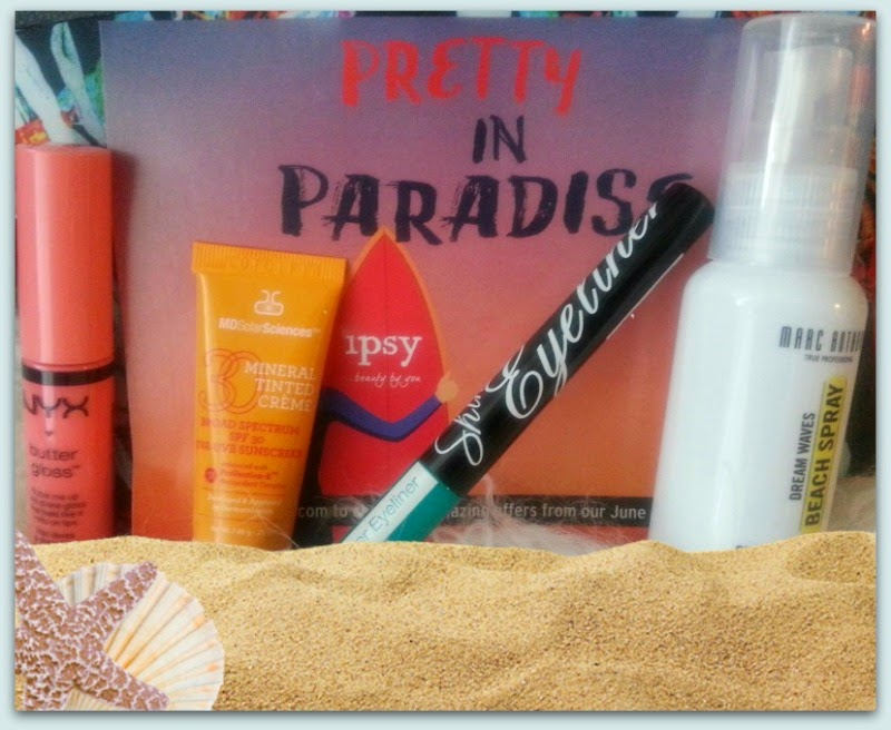 Ipsy's June 2014 Beauty Bag Review...Pretty In Paradise by Barbie's Beauty