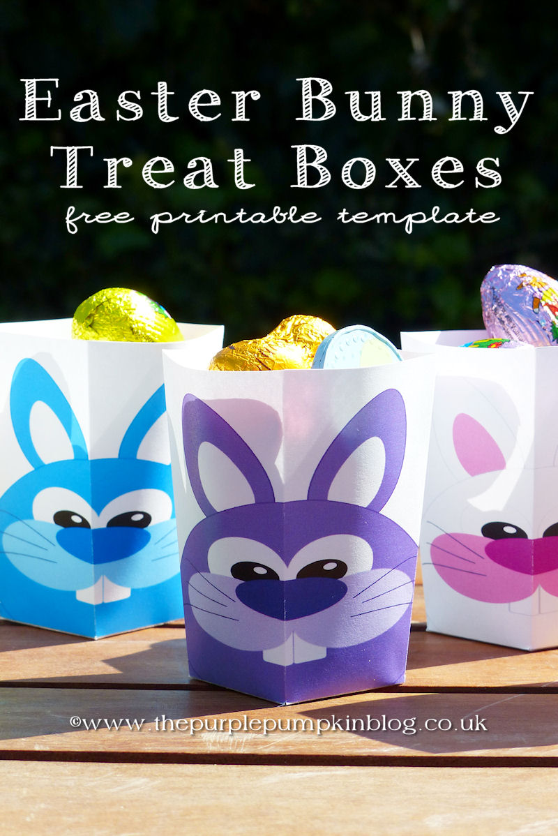 Here Come The Easter Bunnies Treat Boxes – Free Printables