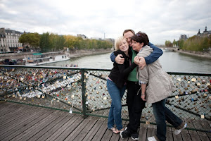 With mom and Denver in Paris!