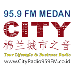 Live Streaming Radio Indonesia,streaming 95.9 City Radio Medan,Streaming Radio Medan, Streamers International Radio