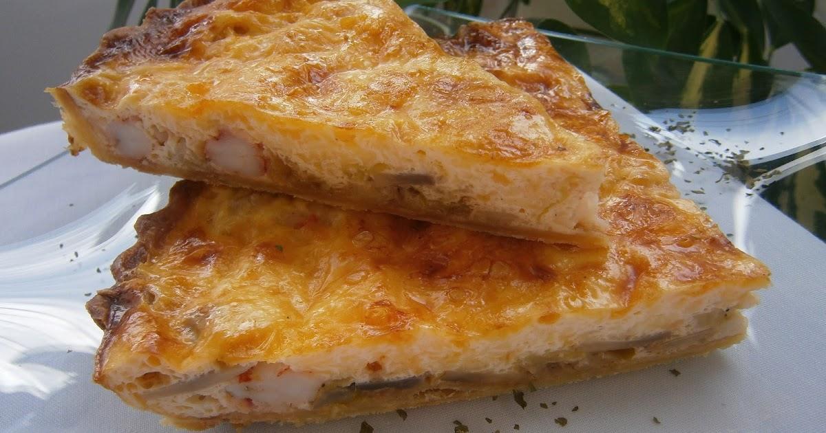 La cocina de los inventos quiche de puerros champi ones - Hojaldre de puerros y gambas ...