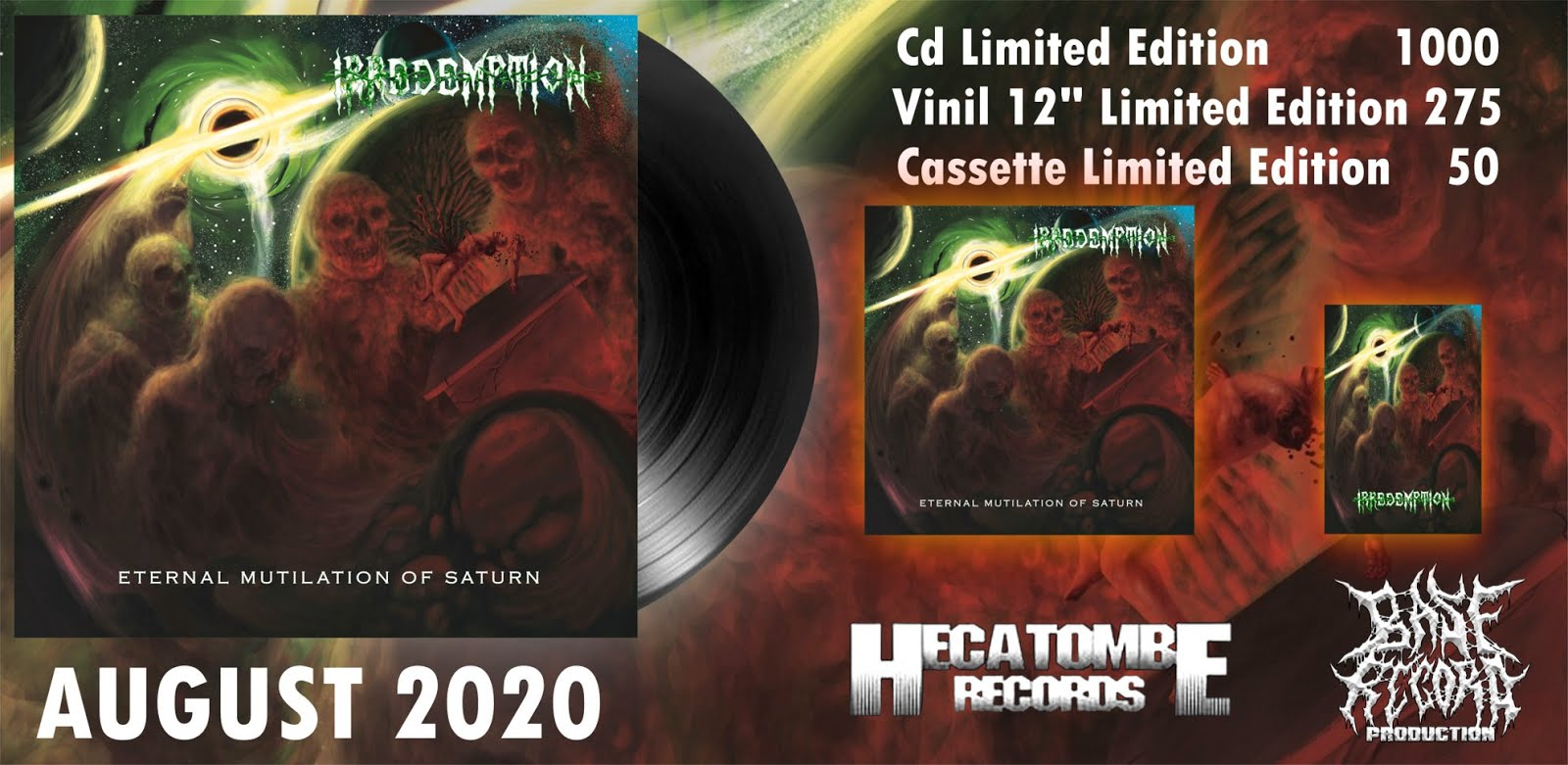 """IRREDEMPTION """"Eternal mutilation of Saturn"""" CD ( death metal from Spain) and coming soon 12""""LP viny"""