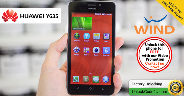 Factory Unlock Code Huawei Y635 from Wind