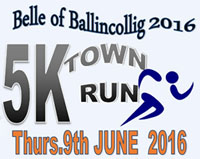 5k in Ballincollig...Thurs 9th June 2016