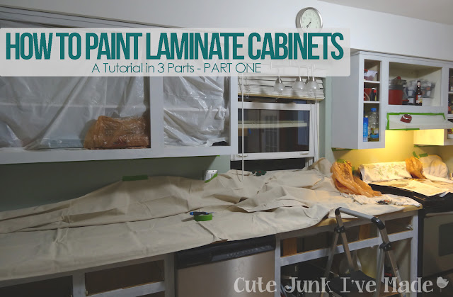 How To Paint Laminate Cabinets - Part One