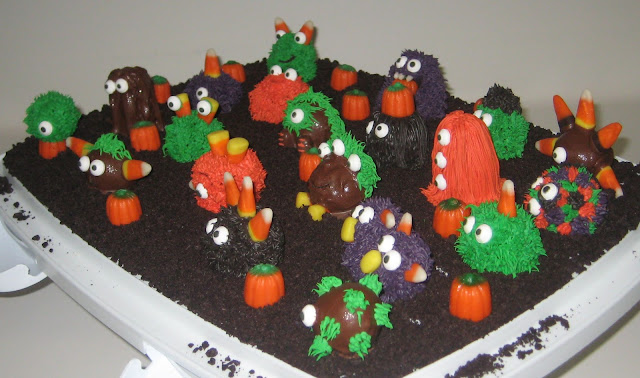 Halloween Little Monster Cake Balls - Angled View 1