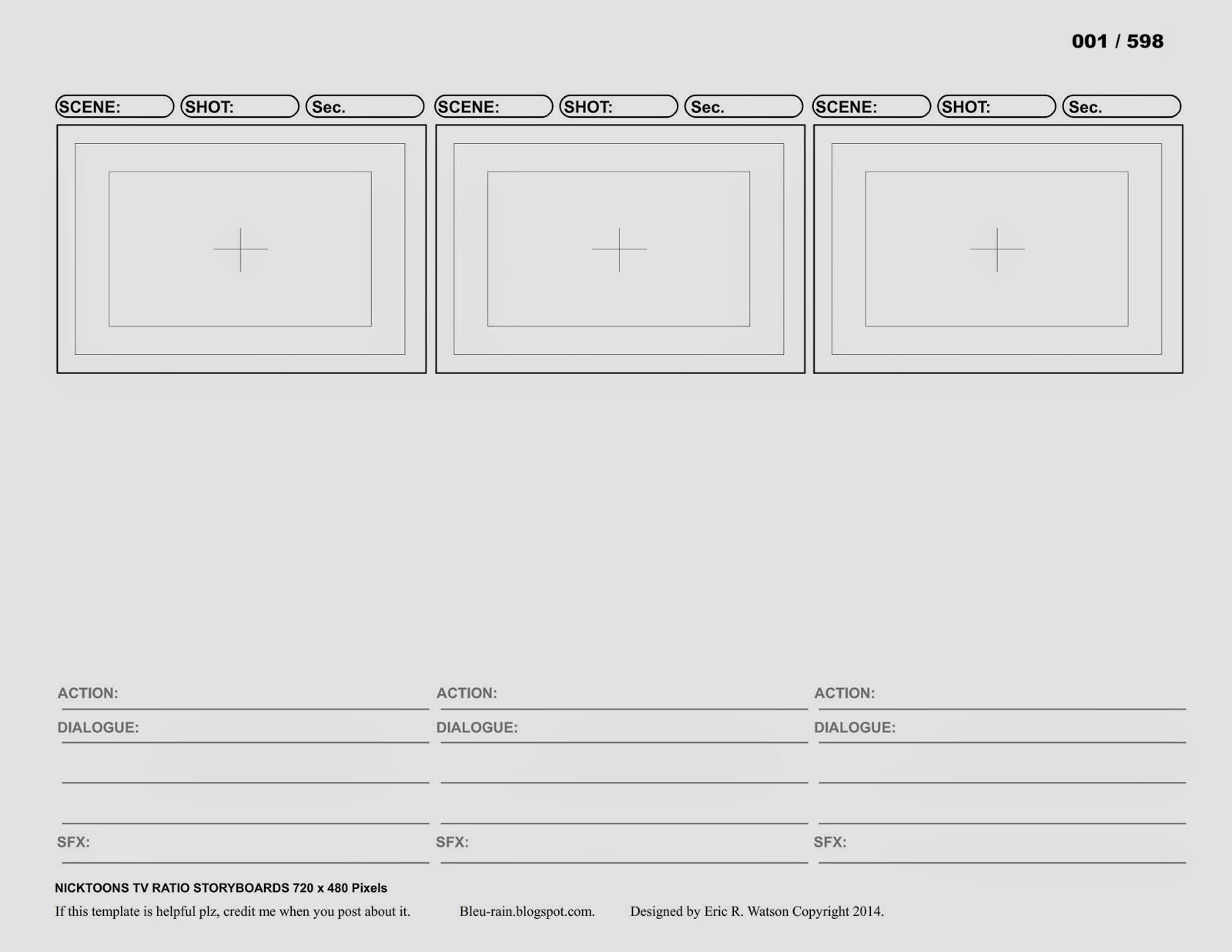 The Concept Artist: More Storyboard Template Updates