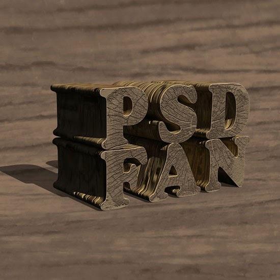 Create a Textured Wooden Text Effect