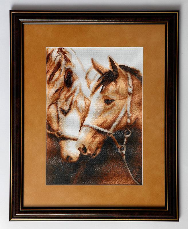 Схема вышивки крестом пара лошадей