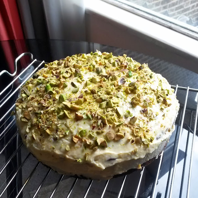 Plum, Orange, Pistachio & Cardamom Cake, from The Simple Things magazine