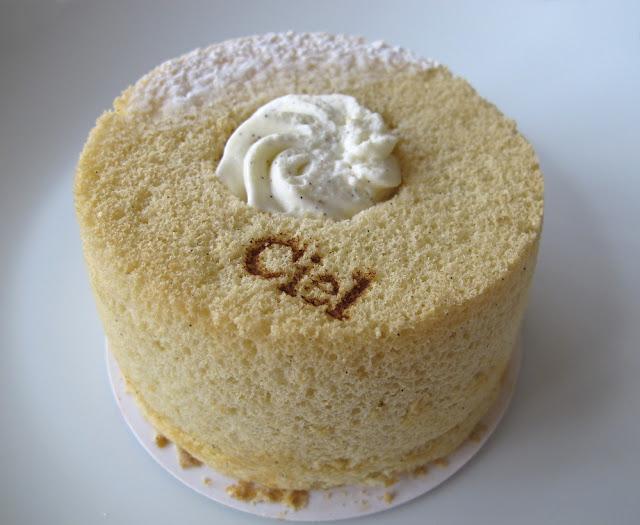 Chiffon cake vanille - Pâtisserie Ciel Paris