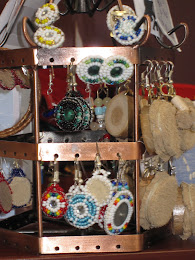 Assorted Beaded Earrings-studs, shanks and clip-ons