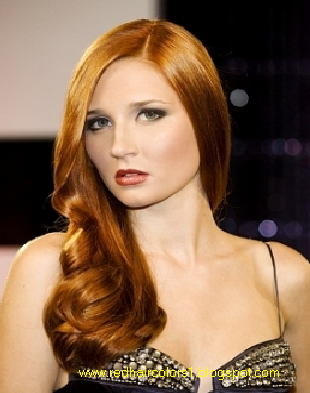 black hair color with red highlights. Natural Red Hair Color skin