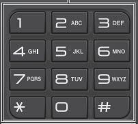 Цифровая клавиатура на панели принтера