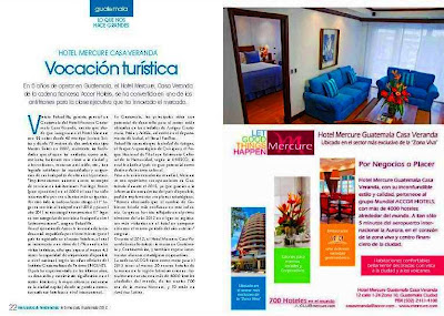 Hotel  Mercure  Veranda Guatemala afiliado Accor  con cinco años de operaciones