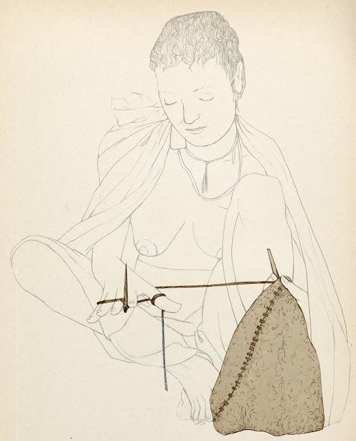 prehistoria,coser,mujer