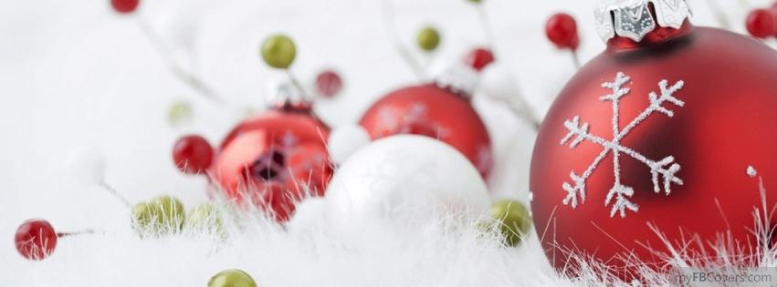 My Fb Covers: Christmas Bulbs facebook cover