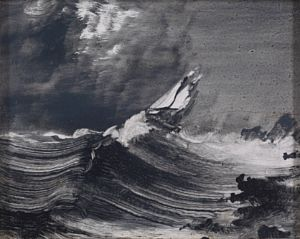 Båt i opprørt hav
