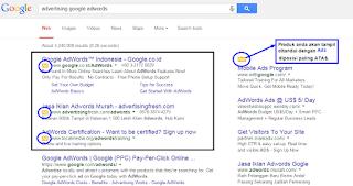 SERP Google - Panduan PPC Bidvertiser
