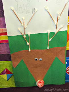 reindeer q-tip craft for kids