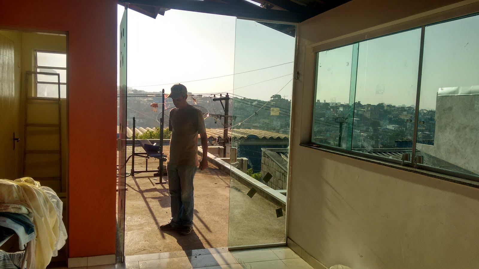Portas e janelas com vidro temperado