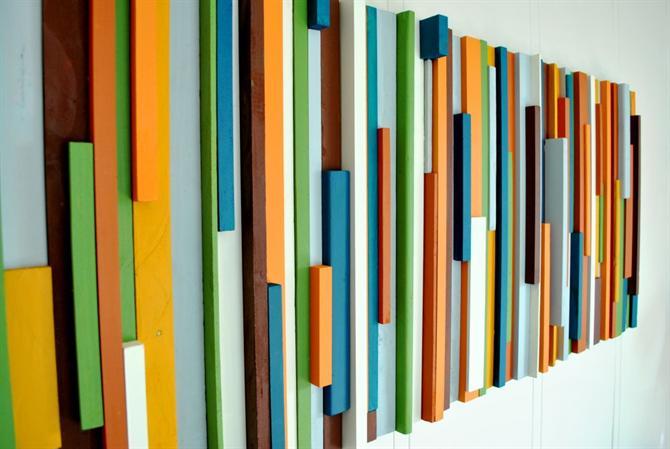 Tranh gỗ | Tranh ghép gỗ màu sắc đẹp | Bức tranh bắt mắt