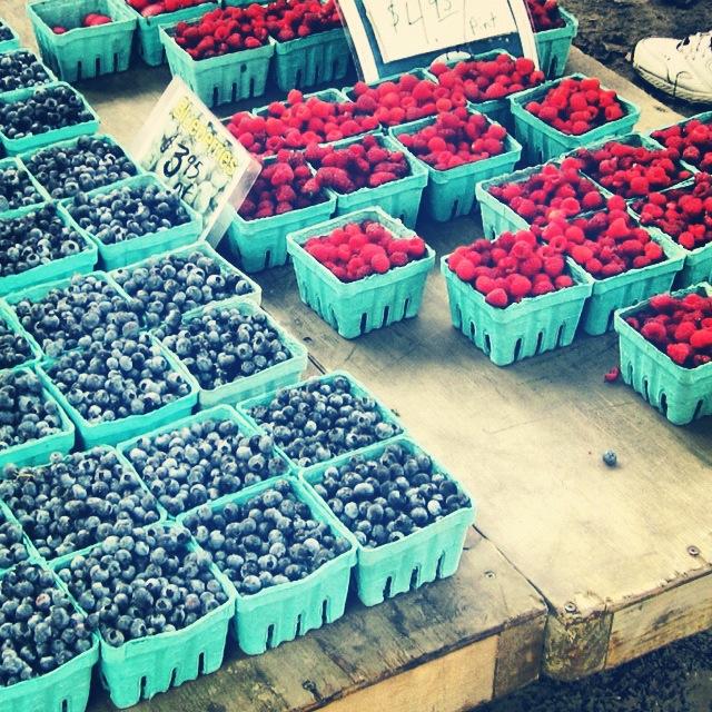 Brattleboro Famers Market - Blueberries & Raspberries